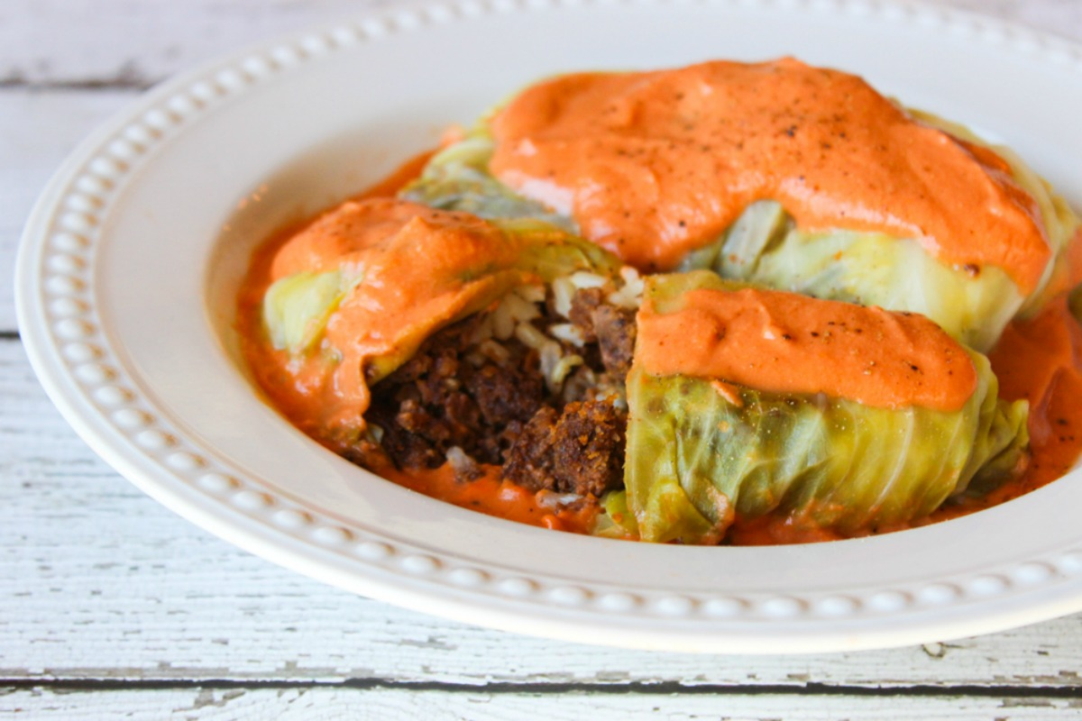 Vegan Polish Golabki: Stuffed Cabbage
