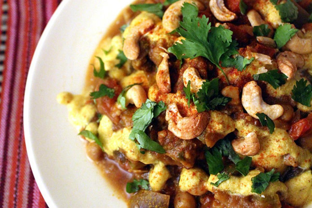 Vegan Iranian Eggplant and Chickpeas Stew