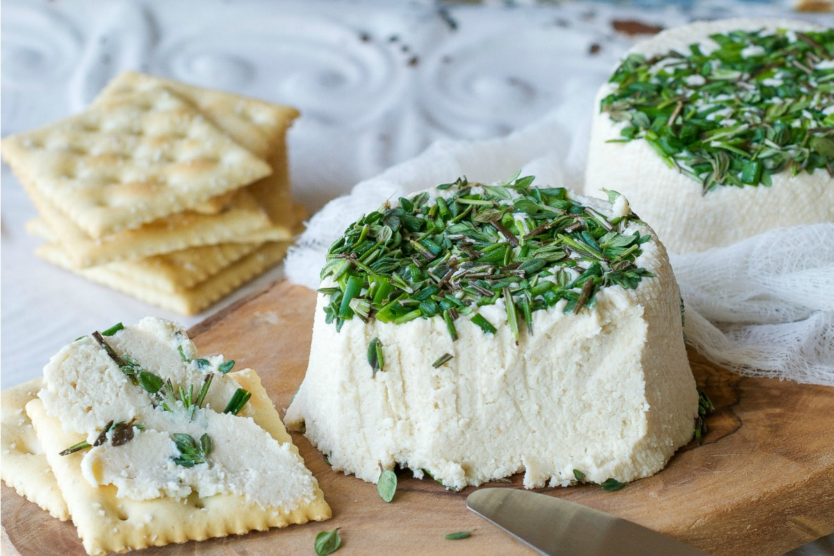 Vegan Roasted Garlic and Fresh Herb Cream Cheez