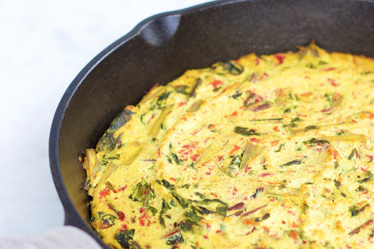 frittata-with-swiss-chard-and-red-pepper/