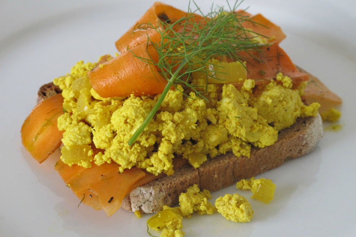 NOT Smoked Salmon Scramble