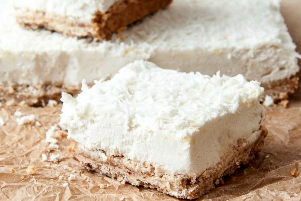 Vegan 7 Ingredient Lemon Coconut Squares