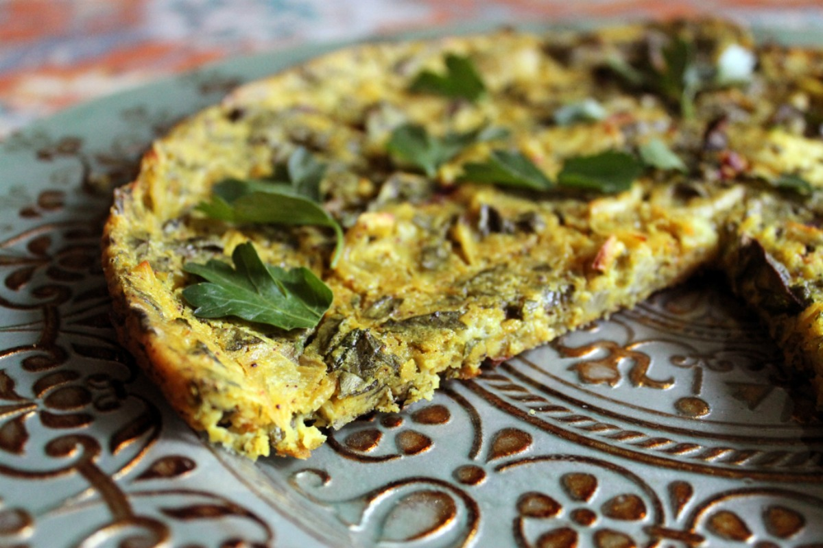 Vegan Baked Spinach and Herb Frittata