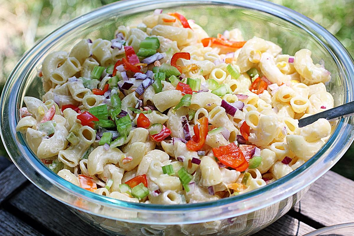 Vegan https://www.onegreenplanet.org/vegan-recipe/simple-summer-macaroni-salad/