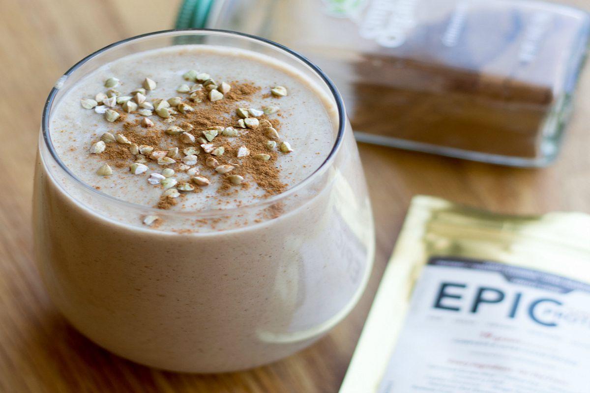 Vegan Vanilla Lucuma Buckwheat Shake
