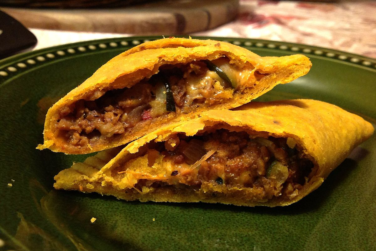 Jamaican 'Beef' Patties With Cheese