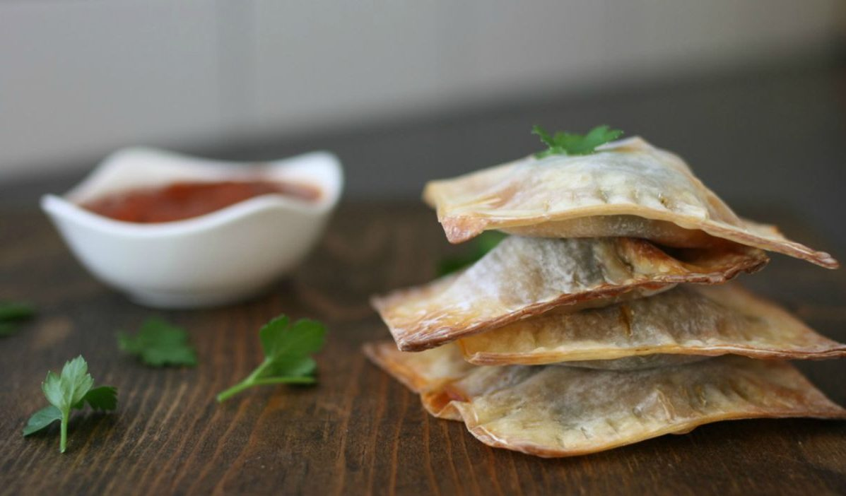 Crispy Lasagna Pockets [Vegan]