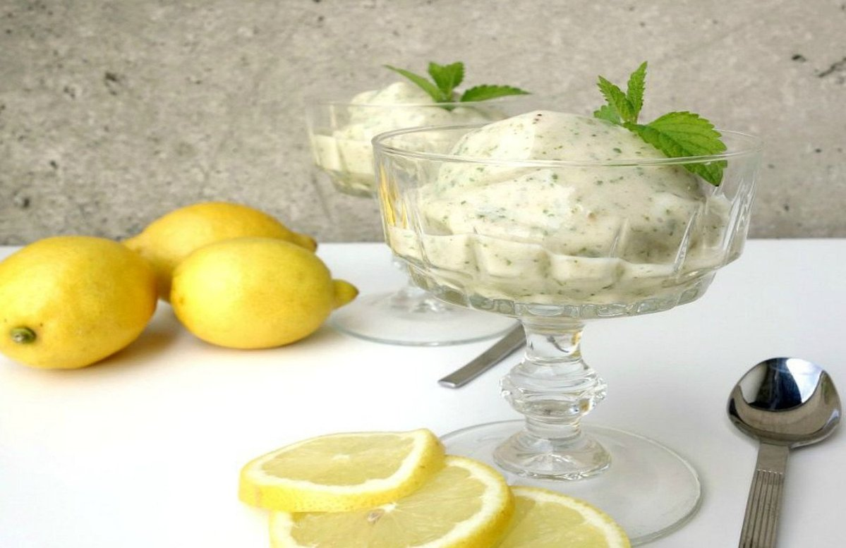 Simple No-Churn Lemon Balm Ice Cream