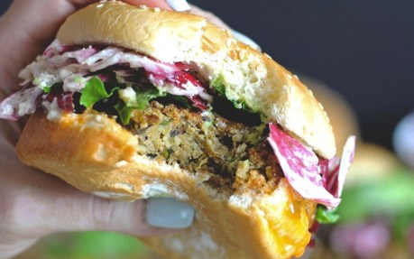 "The Best Veggie ""Big Mac"" With Radicchio Slaw [Vegan, Gluten-Free]"