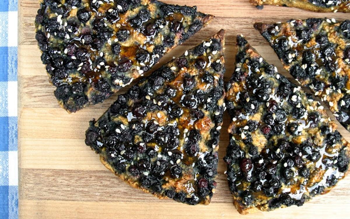Vegan Orange Turmeric Scones With Wild Blueberries