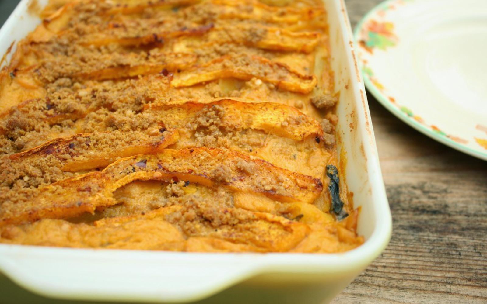 vegan lasagna-Creamy Pumpkin Lasagna