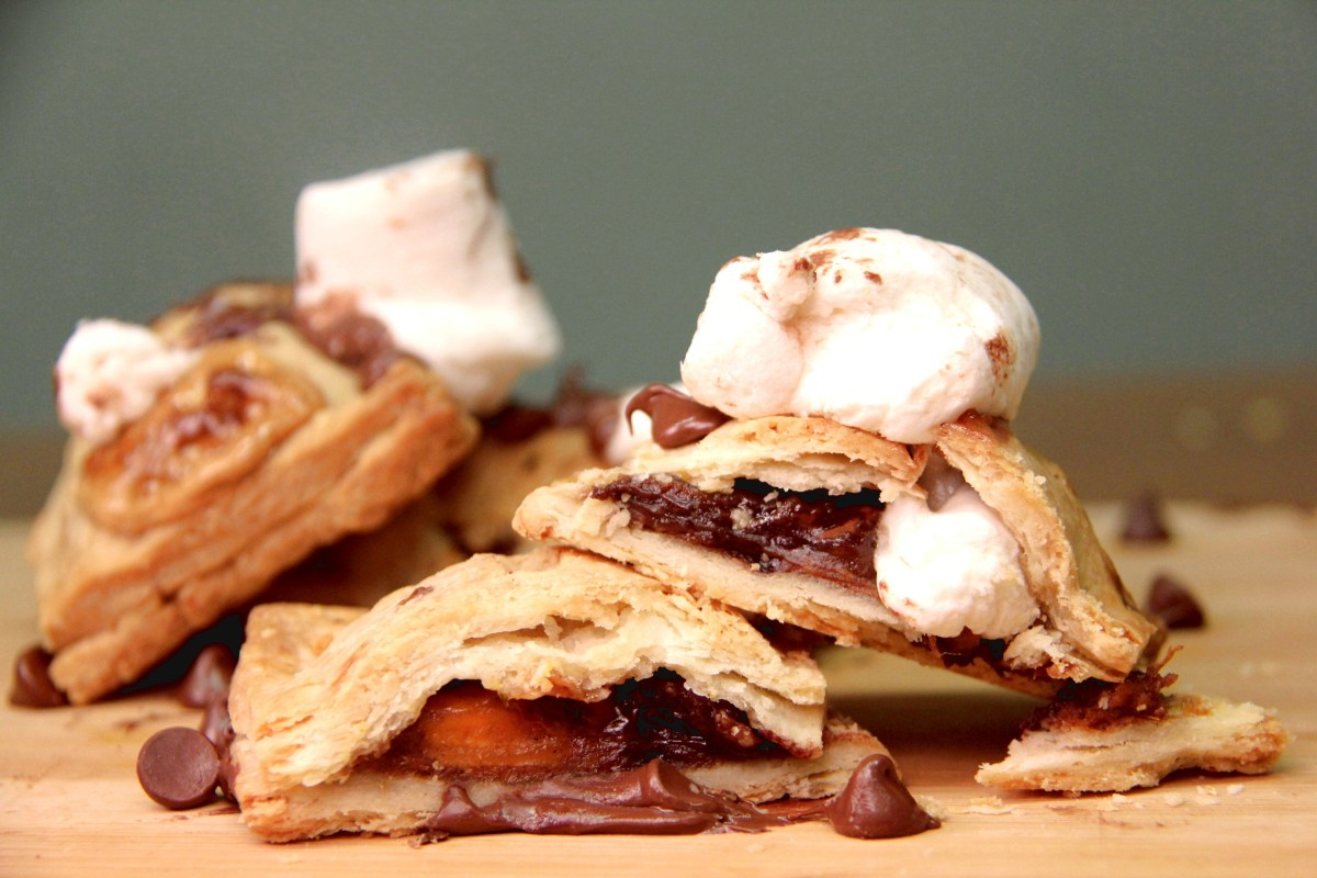 vegan gooey marshmallow and chocolate bourbon sweet potato pop tarts