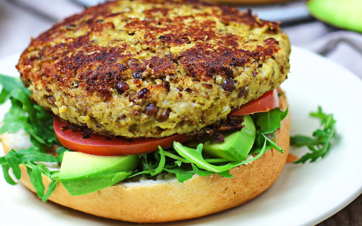 veggie burger This is the best ever veggie burger and that is not an exaggeration it's delicious, full of texture and chew, super satisfying and actually sticks together in the pan.