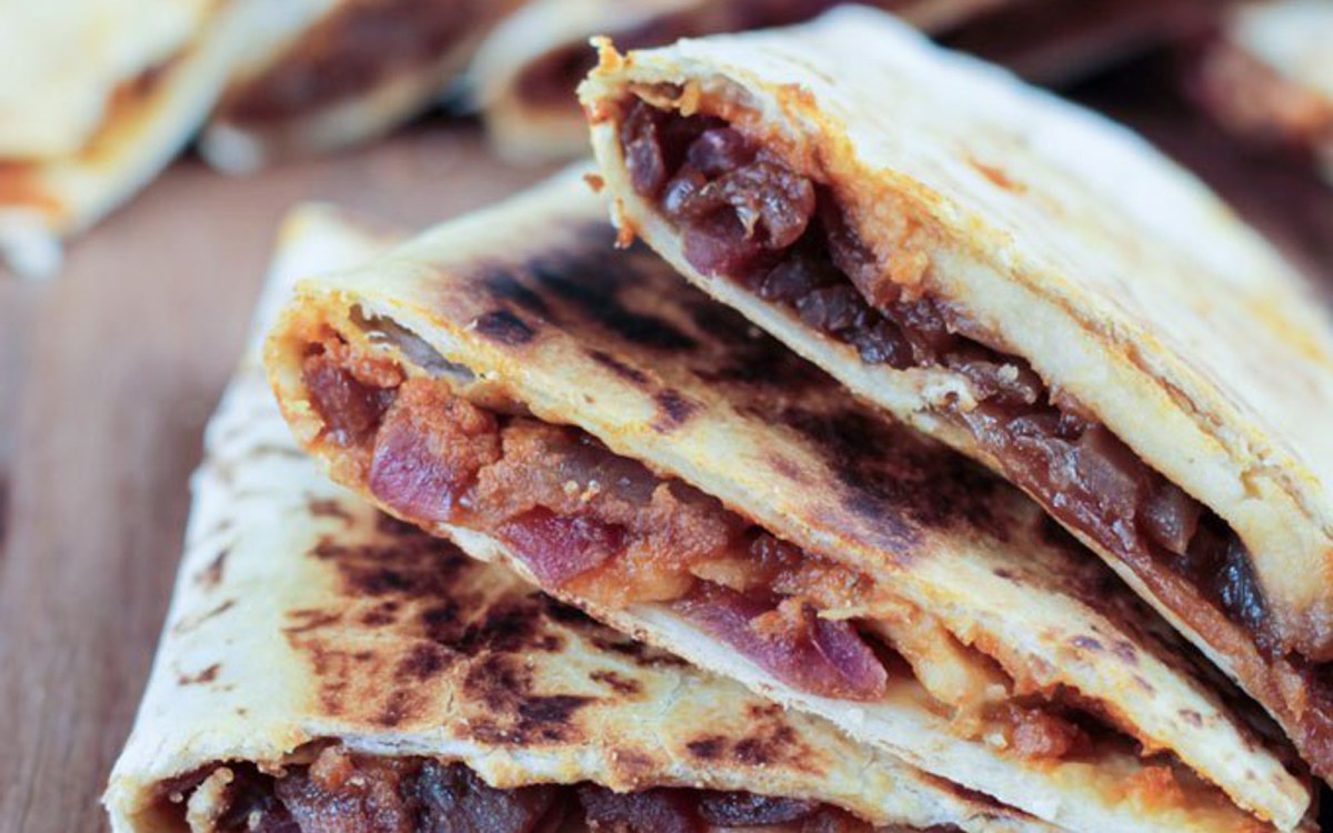 Pumpkin, Apple, and Caramelized Onion Quesadilla