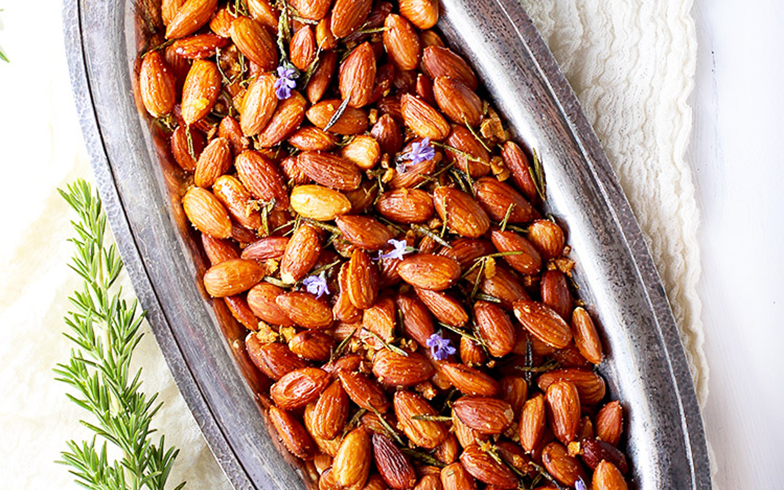 Rosemary and Garlic Roasted Almonds