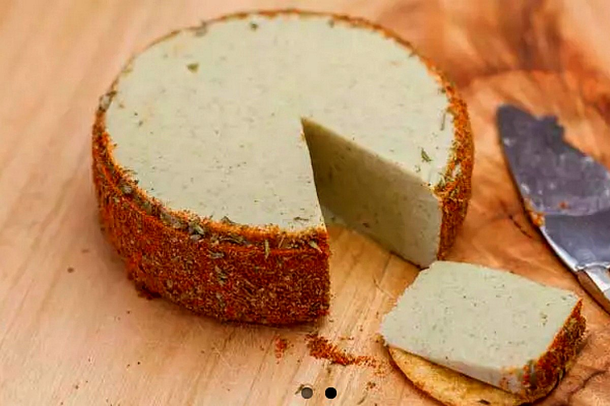 Herb and Garlic Almond Cheese
