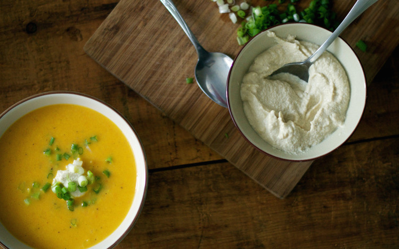 Roasted Garlic-Ginger Carrot Soup With a Miso Cashew Cream