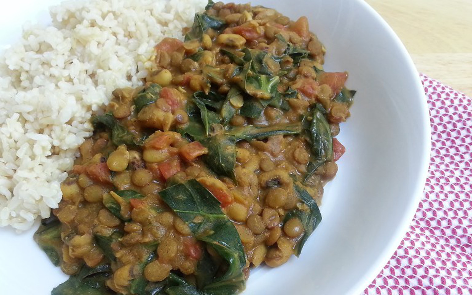 Curried Black-Eyed Peas and Collard Greens