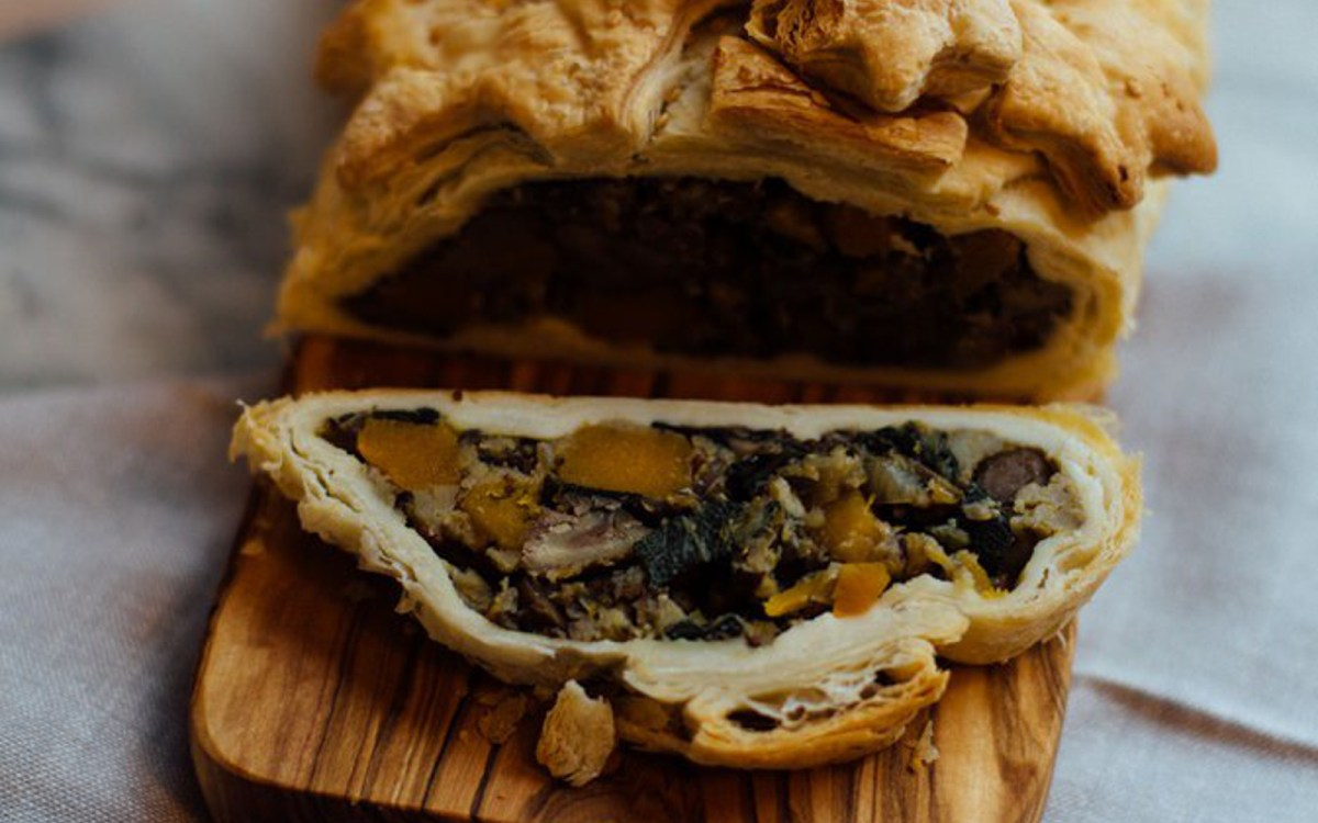 Mushroom and Chestnut Wellington