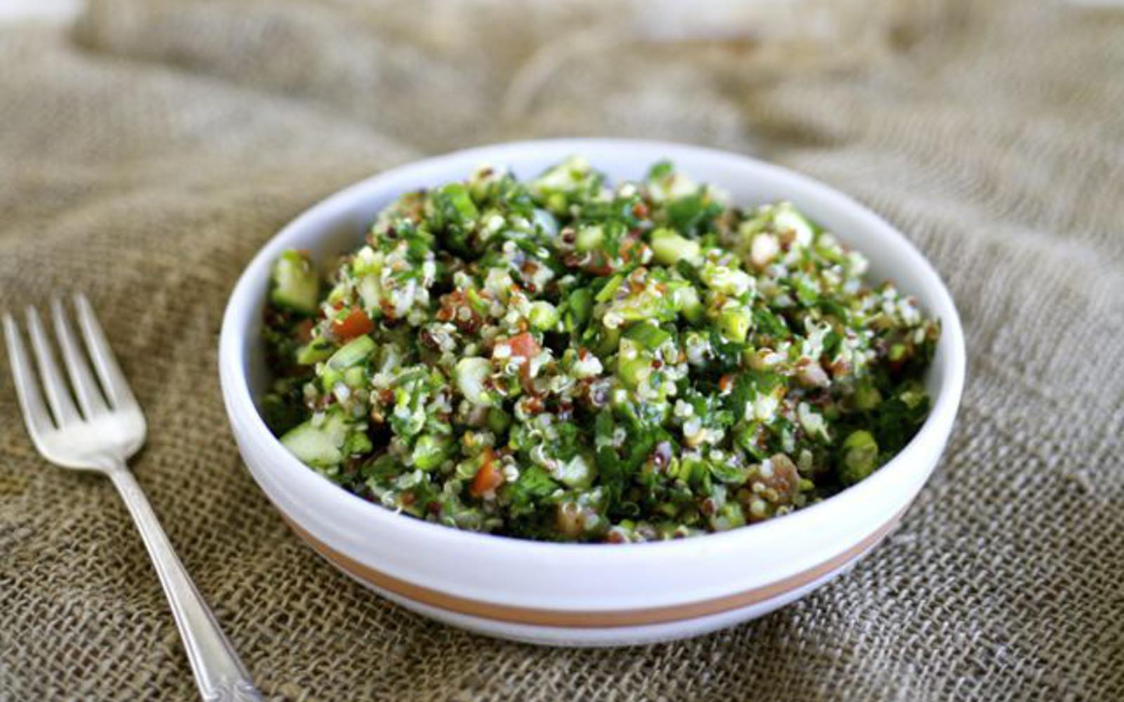 Quinoa Asparagus Tabbouleh