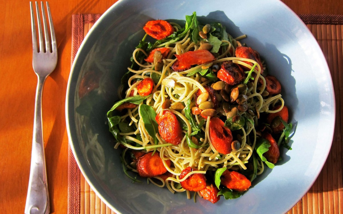 Vegan Spring Roasted Carrot Pasta