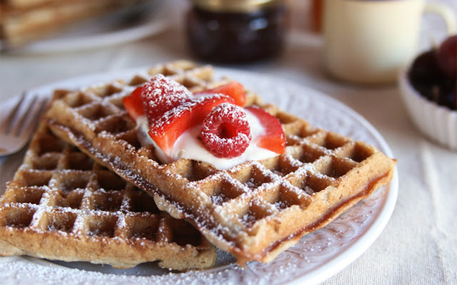 Buckwheat and Quinoa Flour Waffles