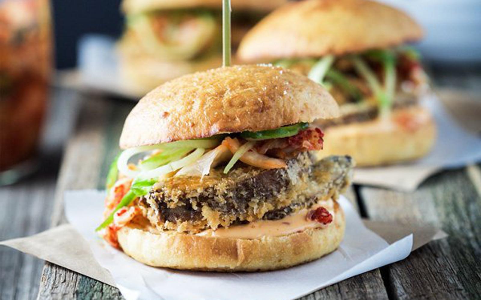 Kimchi Mushroom Burgers
