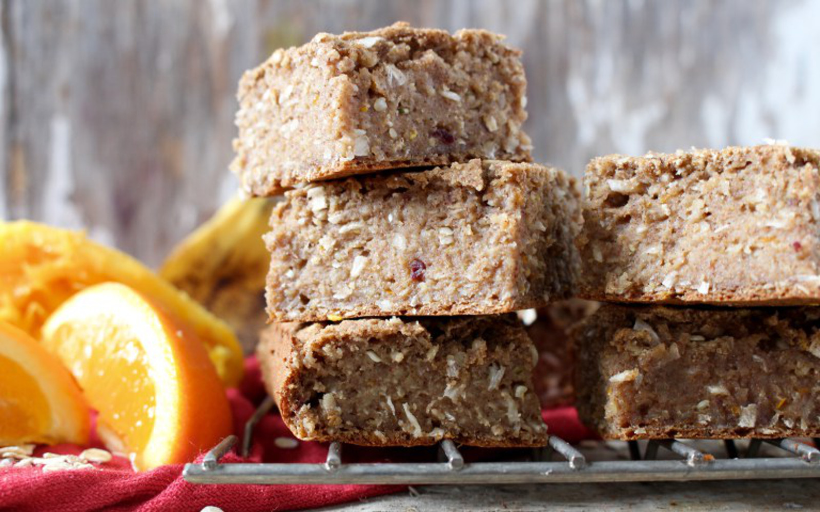 Vegan Tropical Banana Maca Coconut Bars