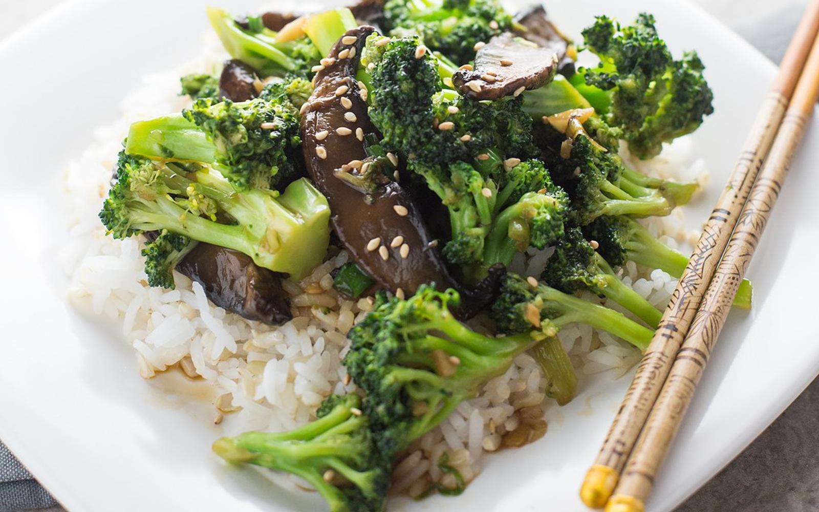 Broccoli and Portobello Beef