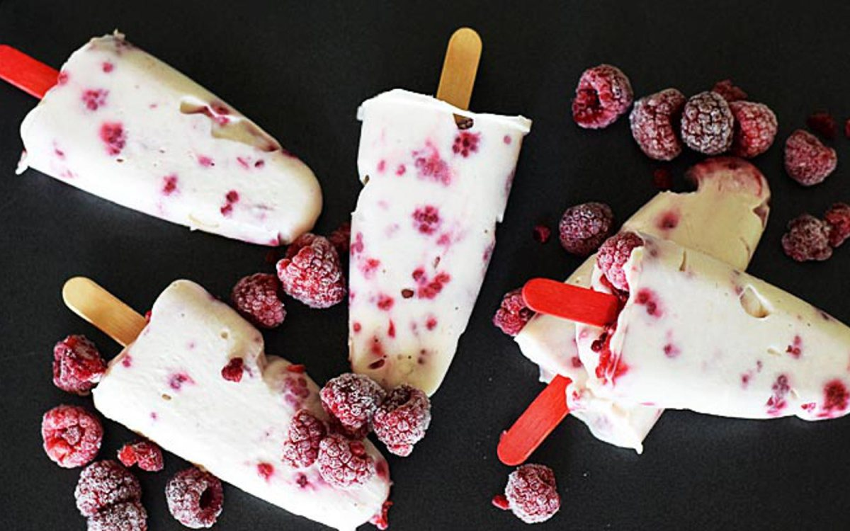Raspberry Yogurt Popsicles