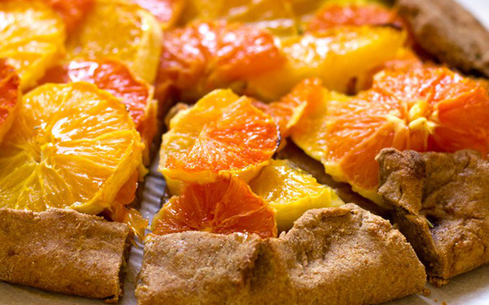 vegan rosemary orange galette
