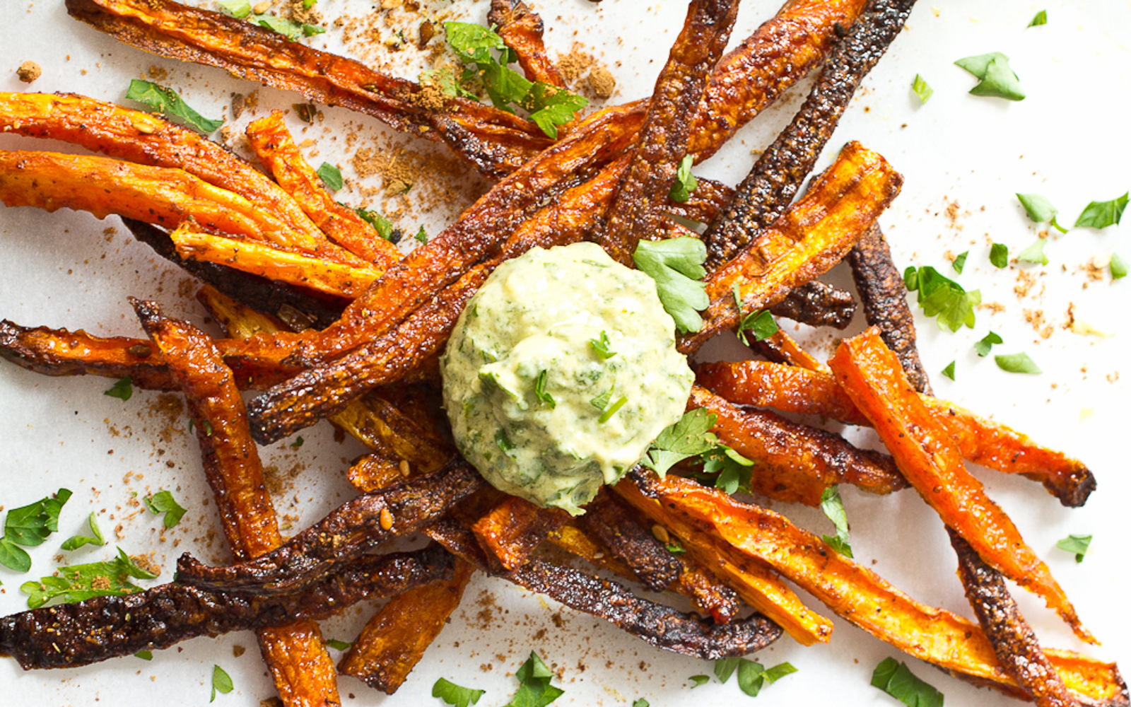 Baked Shoestring Carrot Fries