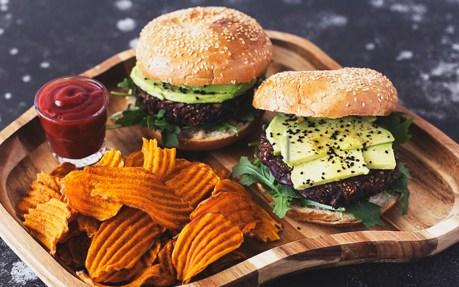 Black Bean, Mushroom, and Kalamata Olive Burger 1