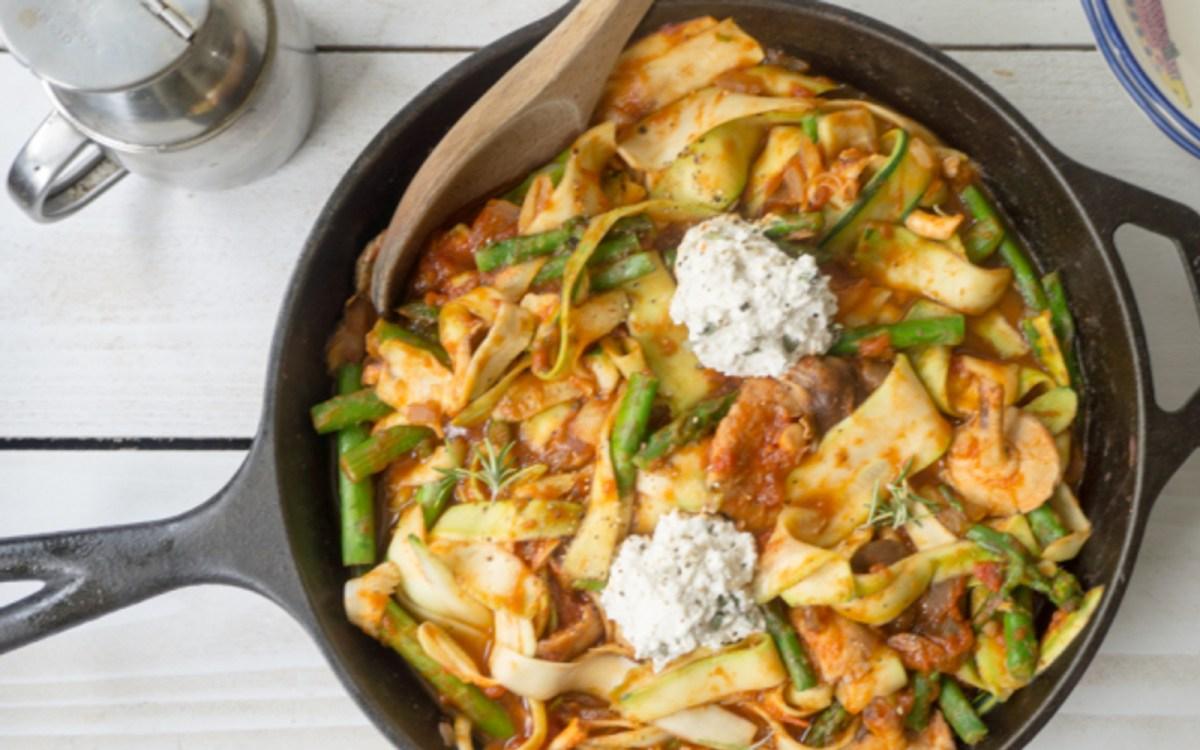 Skillet Zucchini Ribbon Pasta
