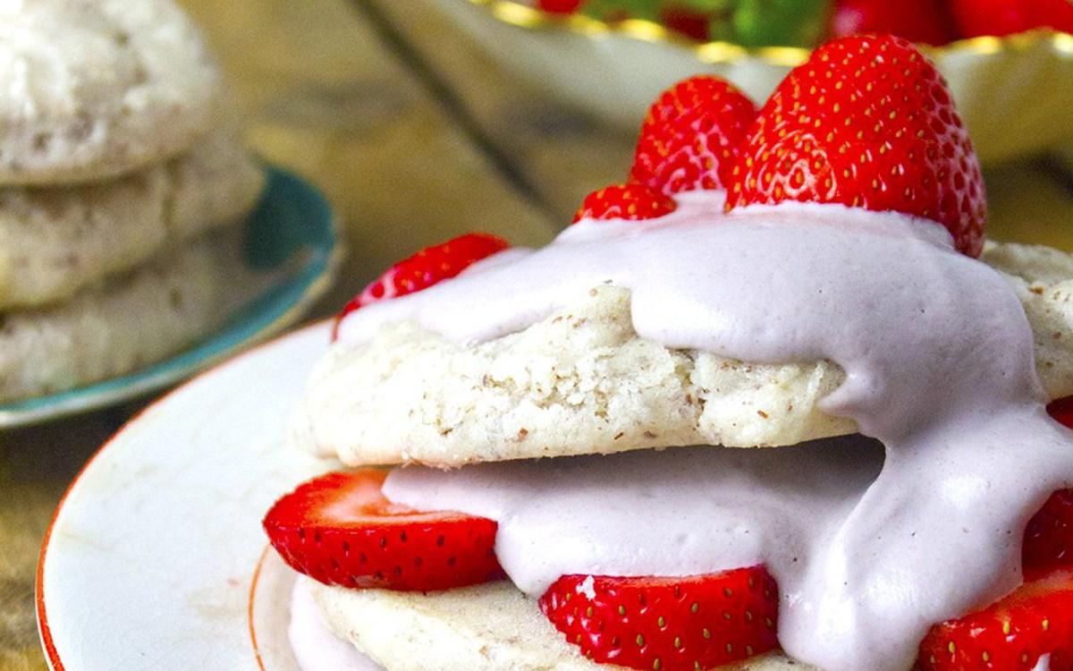 Vegan Almond Flour Strawberry Shortcake