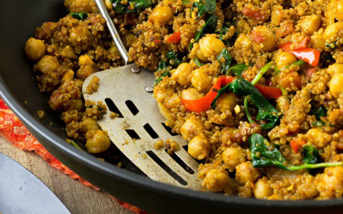 Indian quinoa and chickpea stir fry vegan one green planetone indian quinoa and chickpea stir fry vegan one green planetone green planet forumfinder Images