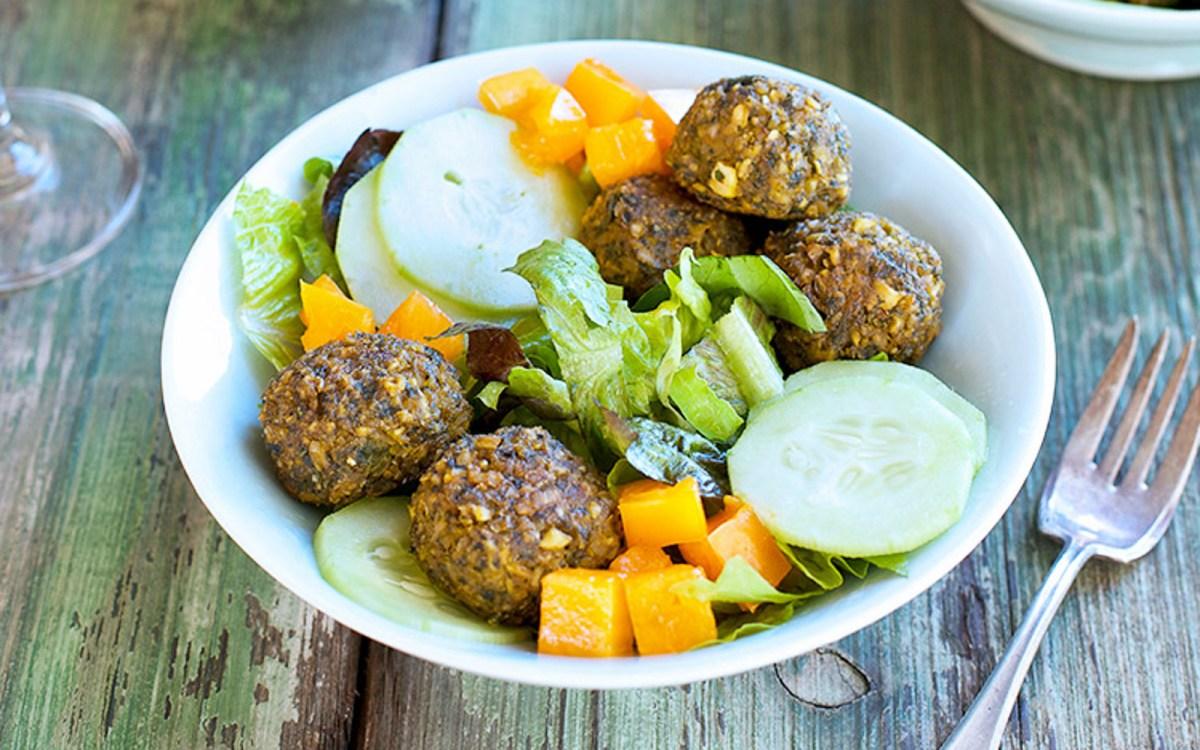 Kale Falafel Salad Bowl 1