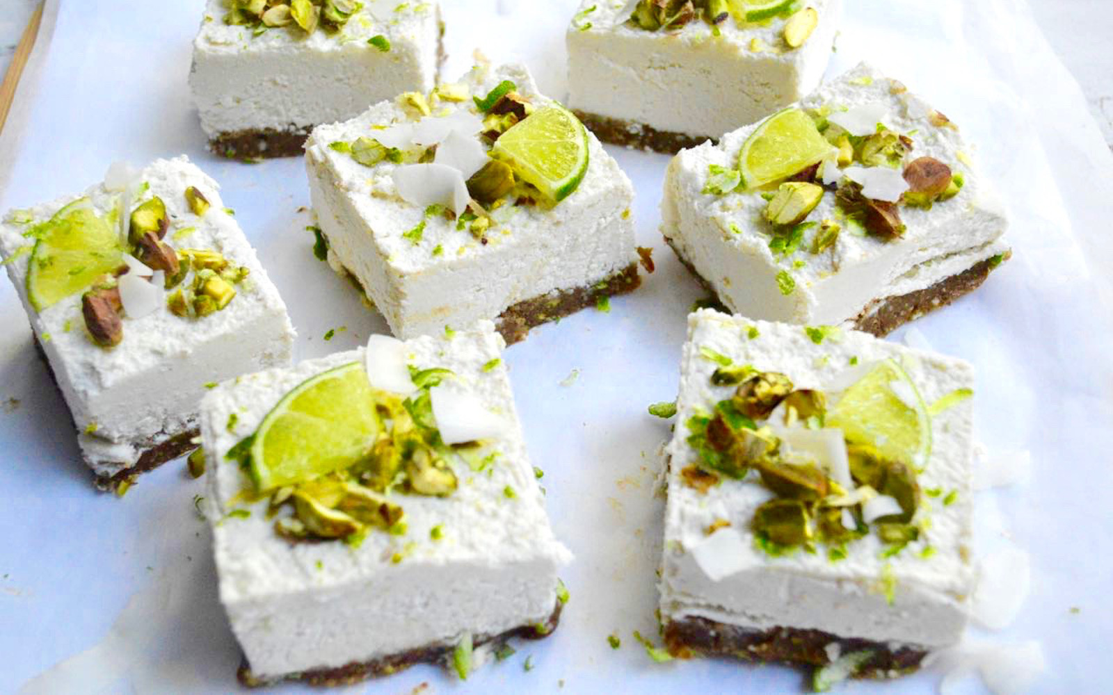 Raw Pistachio Coconut and Lime Cheesecakes 1