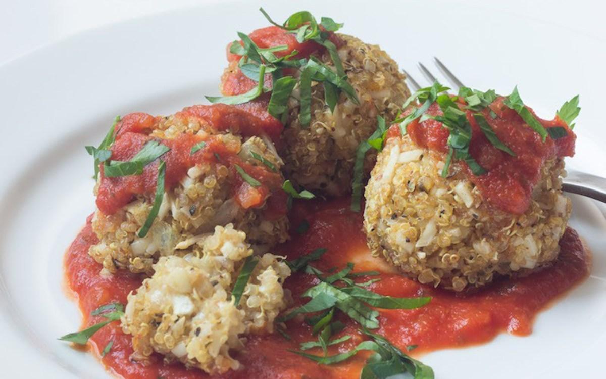 Cheesy Quinoa Meatballs 1