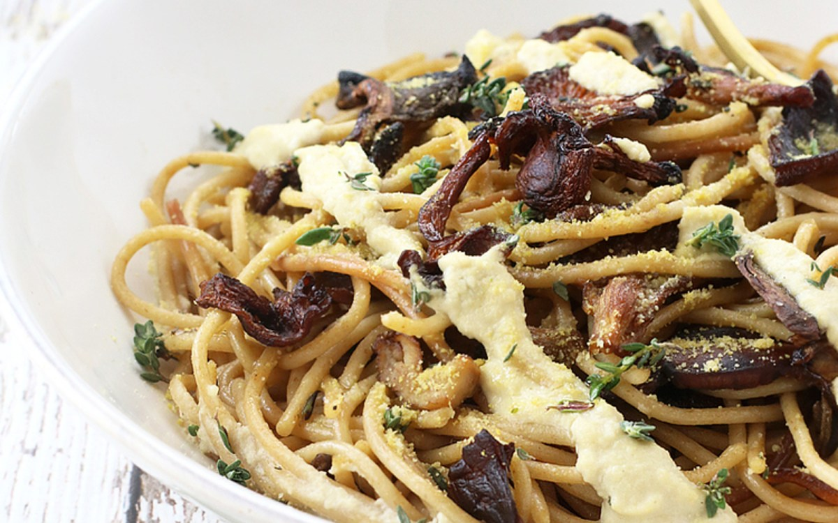 Creamy Spaghetti With Wild Mushrooms 2