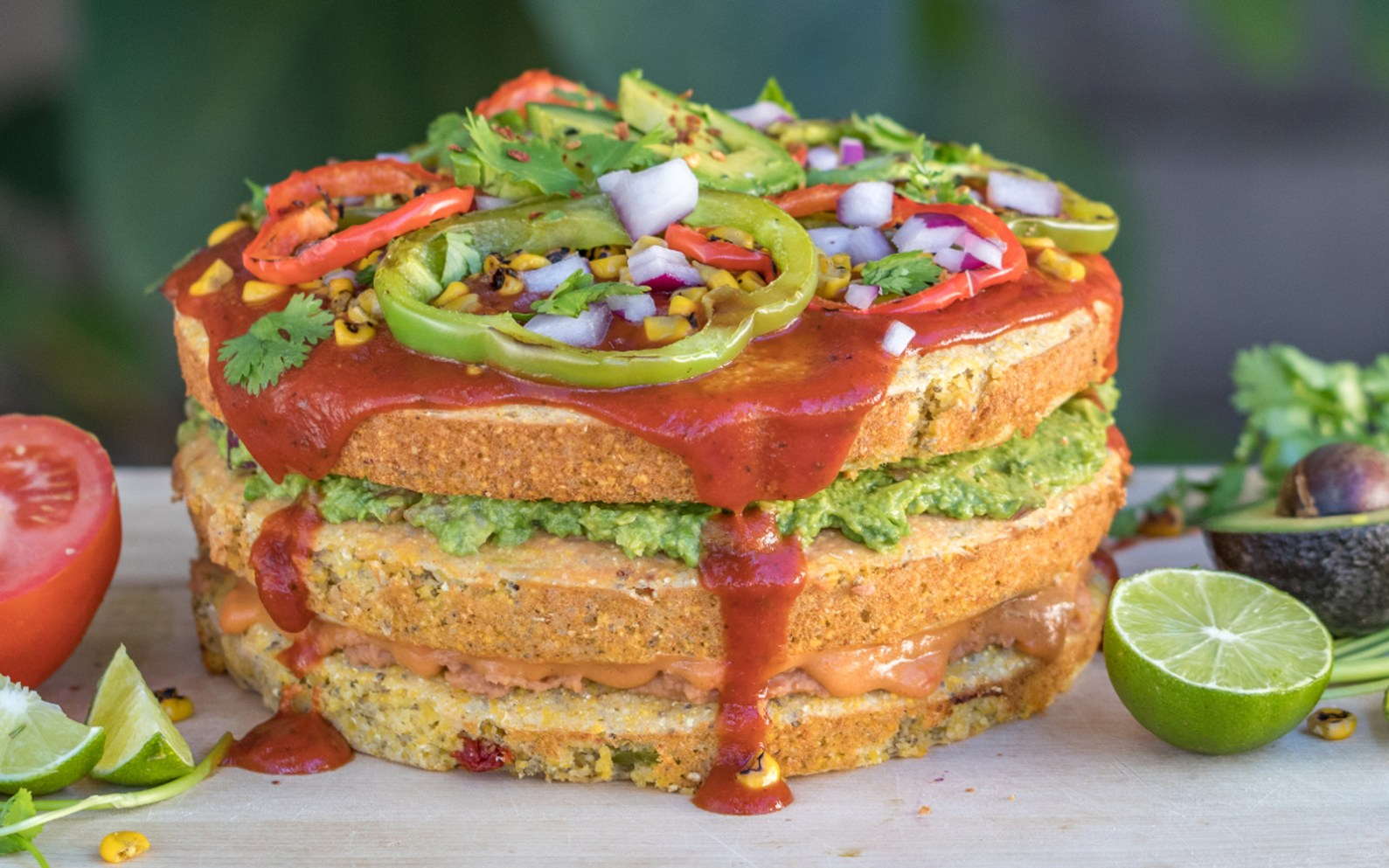 Mexican Cornbread Pizza Cake Vegan Gluten Free One Green Planet