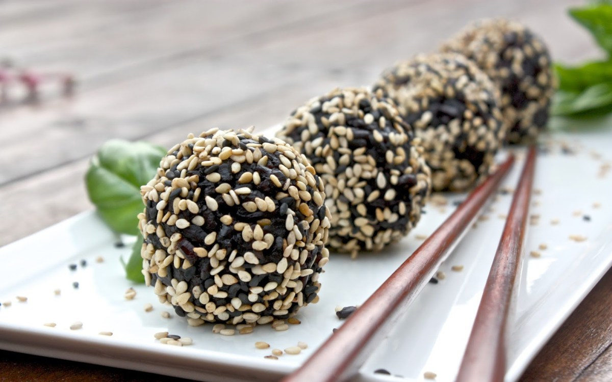 Black Sesame Rice Balls