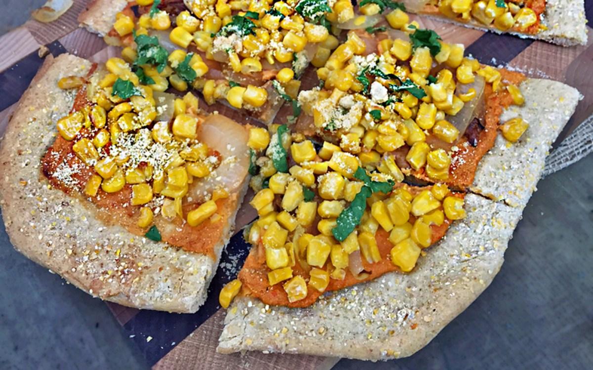 Cornmeal Crusted Flatbread Pizza b