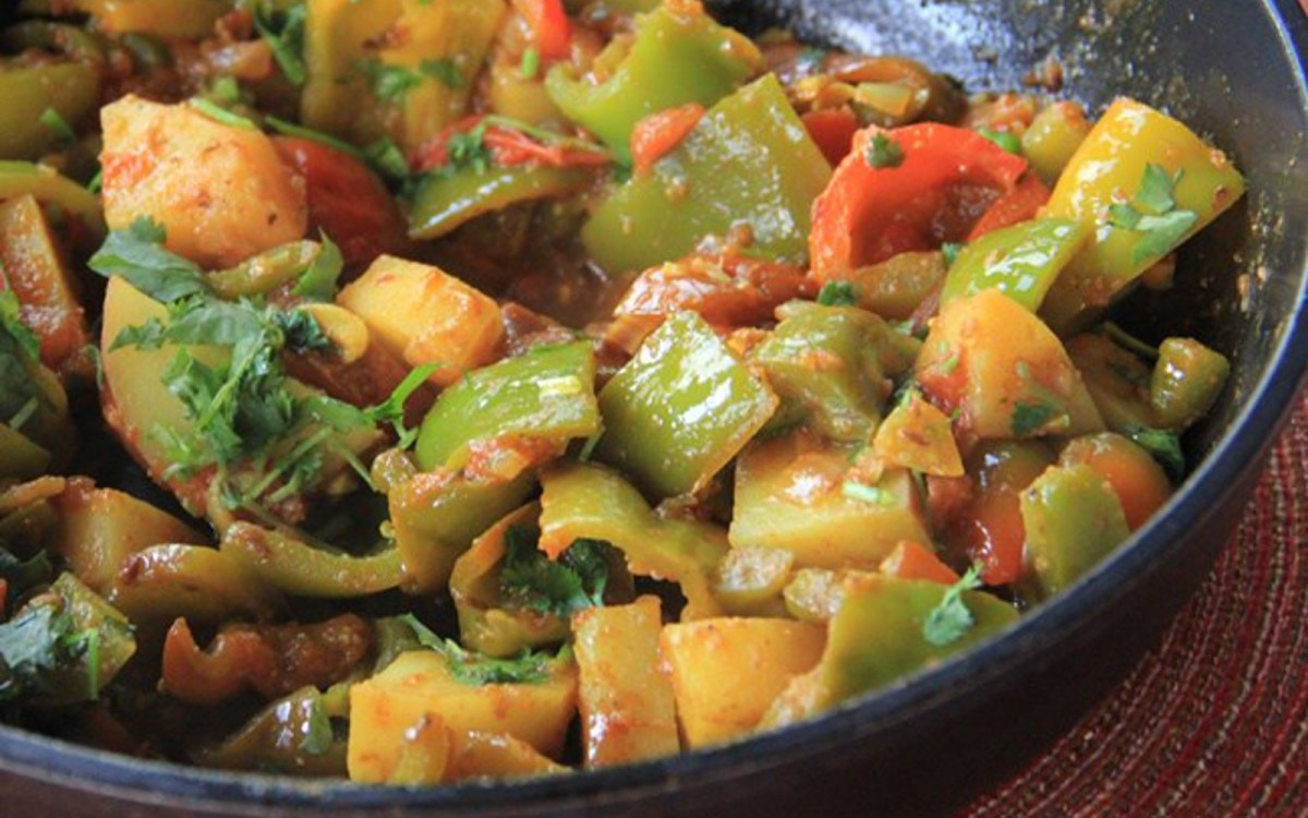 Curried Potatoes and Bell Peppers 3