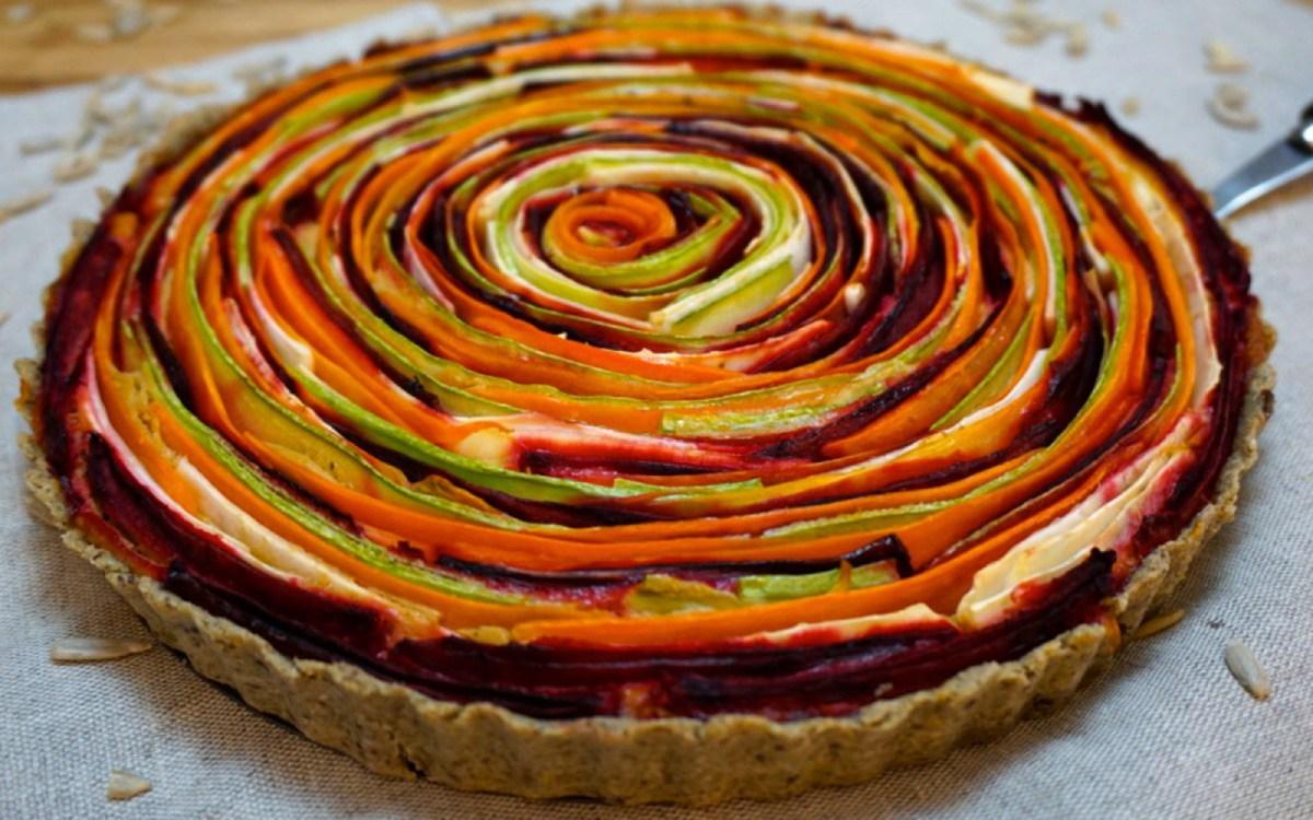 vegetable rose tart