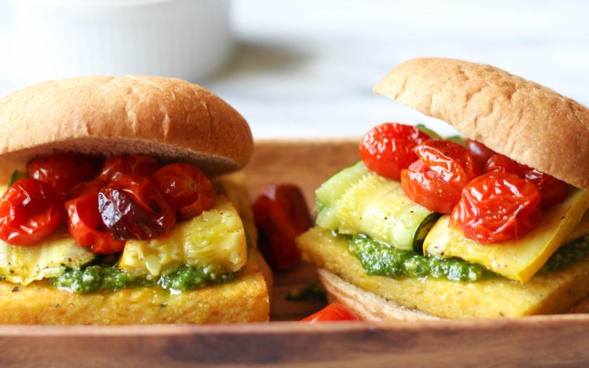 Polenta Pesto Veggie Burger 4