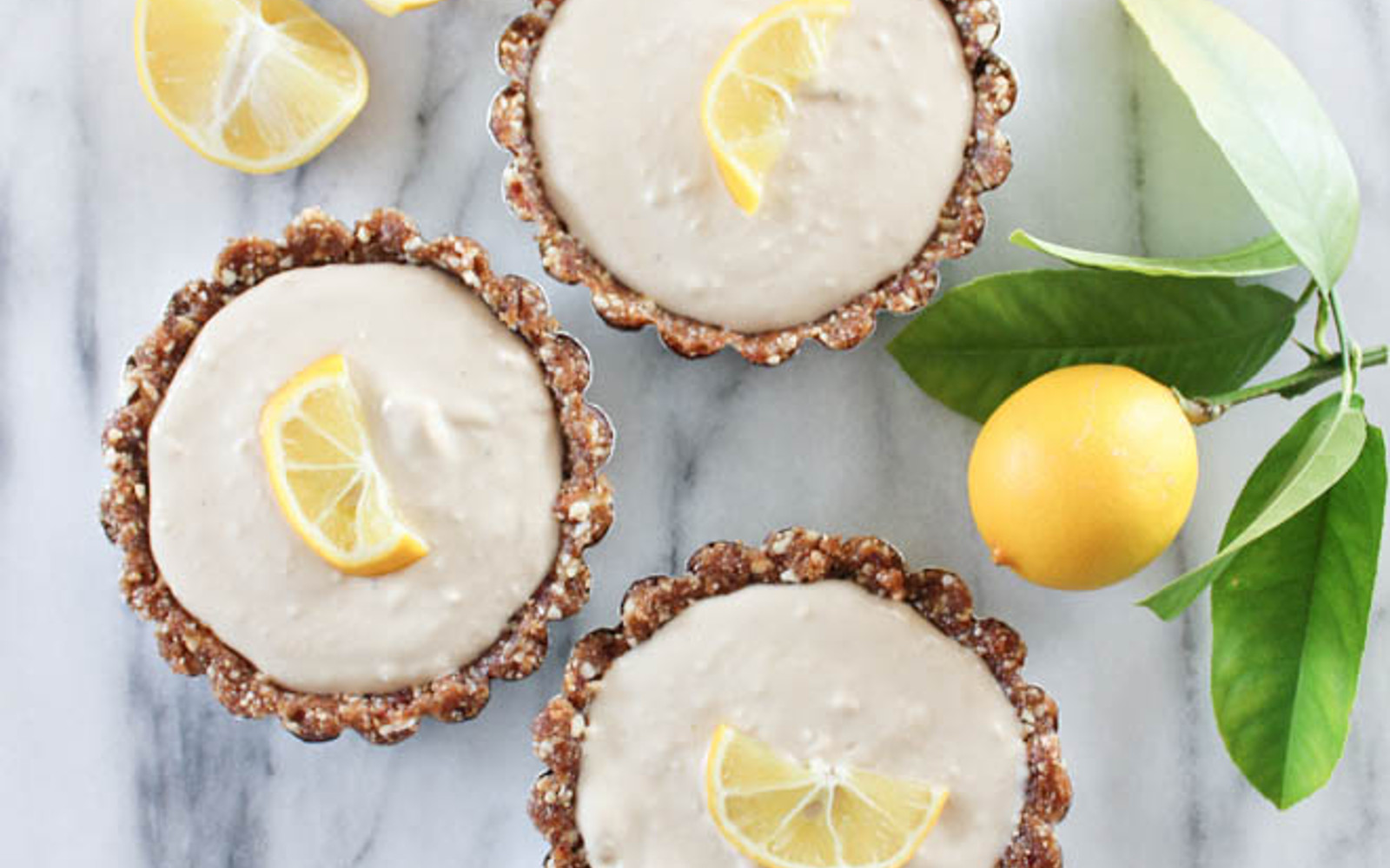 Raw Meyer Lemon Tarts