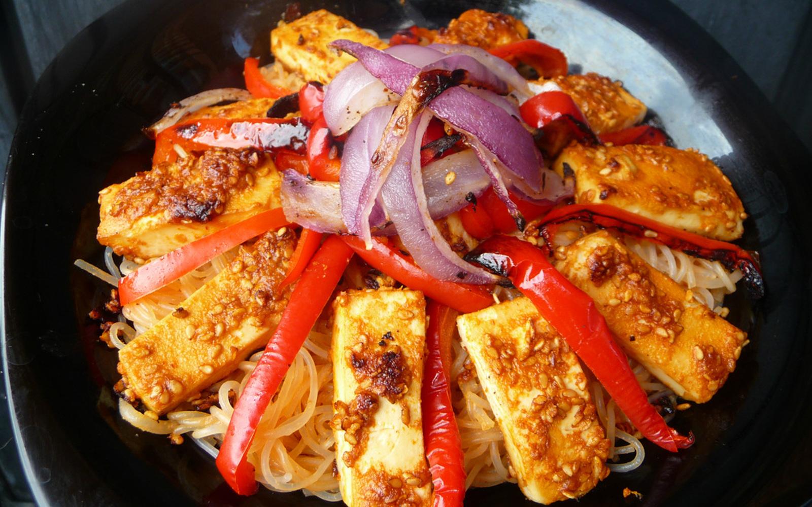 Sesame Soy Tofu Noodle Bowl 2
