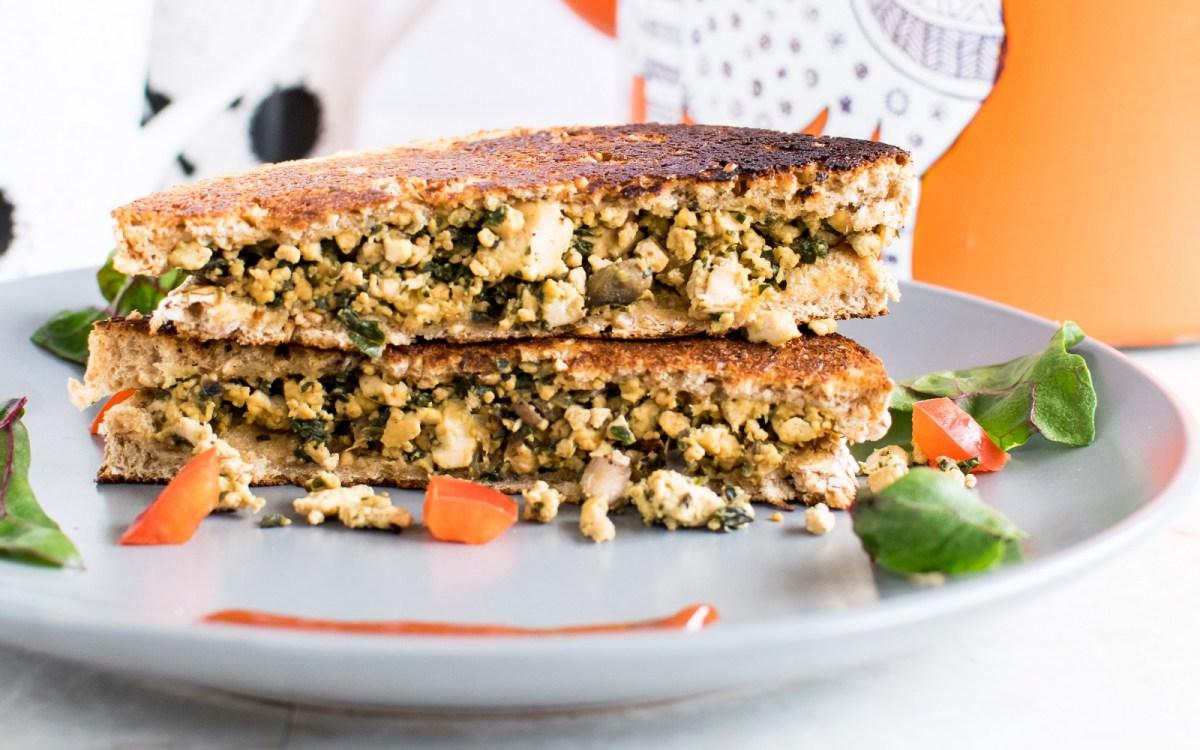 Tofu Scramble and Red Chard Sandwich [Vegan] - One Green ...