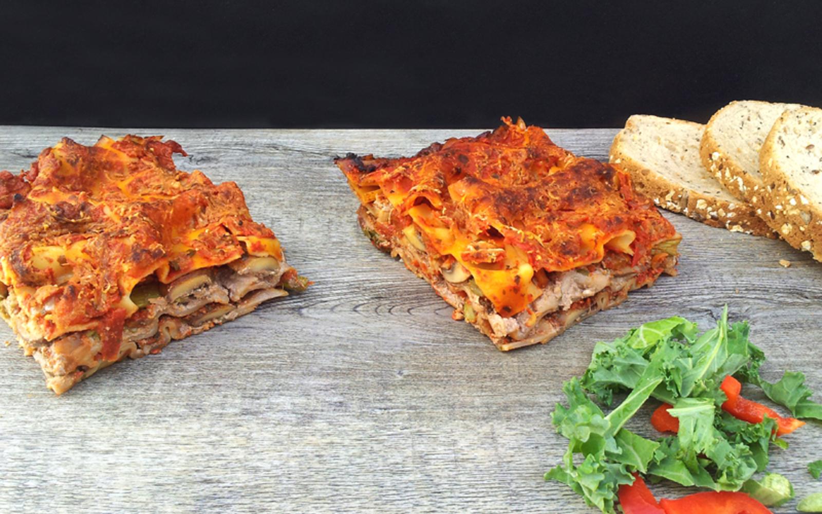 Asparagus and Mushroom Lasagna